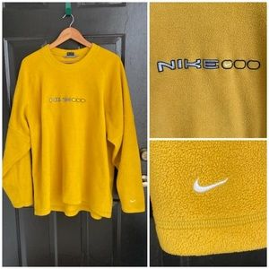 Rare Vintage Nike Spellout Swoosh Fleece Sweater